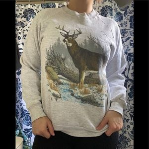 🎉 Vtg 90s Deer Sweatshirt